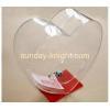 China Custom heart shape acrylic donation box with lock DBK-030 for sale