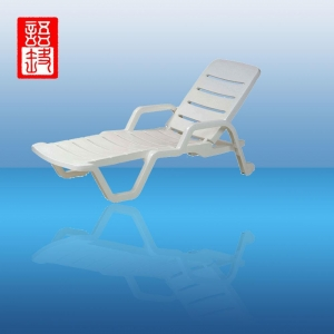China Plastic Folding Beach chaise lounge chairs on sale