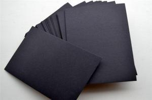 China Black cardboard on sale