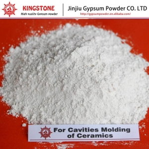China Plaster of Paris for Cavities of Ceramic Molding High Whiteness KS Gypsum Powder on sale