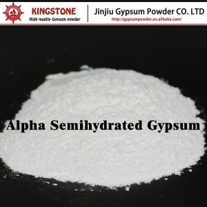 China High Strength Hard Forming Semihydrated Plaster of Paris Alpha Gypsum Powder on sale