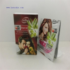 China Hair Coloring Product name:brown red color shine hair dye shampoo on sale