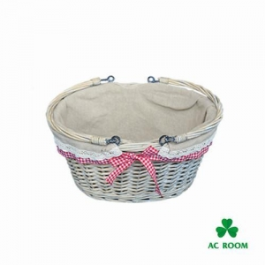China Half willow basket with handle on sale
