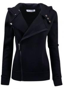 China Women Slim fit Zip-up Hoodie Jacket on sale