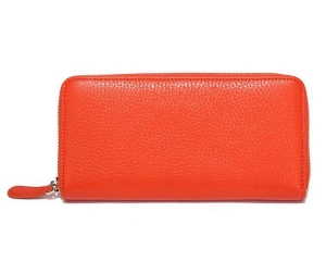 China Luxury wallet manufacturer women leather Coin purse quality zipper wallet35804 on sale
