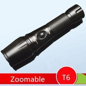 China Flexible Zoom AAA Dry Battery or 18650 Powered 1000 Lms CREE XML-T6 Led Torch/Flashlight on sale