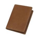 Wholesale price customized full grain leather passport cover holder travel case