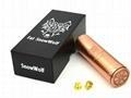 China mechanical 26650 mod Red Copper Fat SnowWolf mod on sale