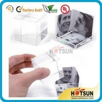 China acrylic block frame , block photo frame on sale
