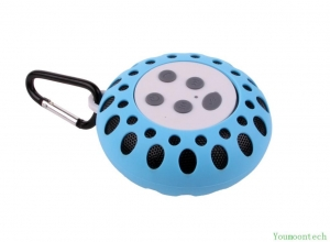 China BTS-25-03 red bluetooth speaker with NFC bluetooth shower speaker with hook on sale