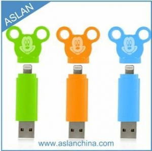 China Charger Cables for iPhone Key Chain USB Charger Cable (AA-035) on sale