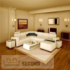 China WITH CHAISES Sunrise Leather Sectional Sofa on sale