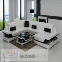 WITH CHAISES Union Leather Sectional