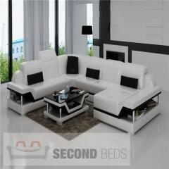 China WITH CHAISES Union Leather Sectional on sale