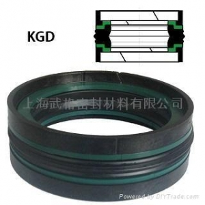 China KGD Double Acting Piston Seal With Wear Rings on sale
