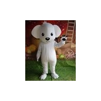 white puppy Dog mascot costume