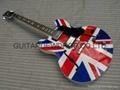 China gibson les paul Es-335 UK flag electric guitar on sale