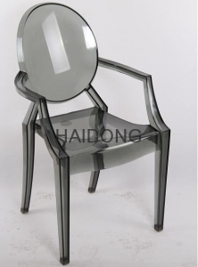 China R-GH-L06 Transparent-smoky Resin Louis Ghost Arm-Chair on sale