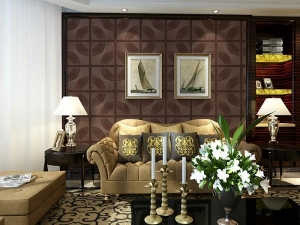 China Decoration Leather Wall Tiles Modern 3D Wall Panels Customized Size and Color on sale