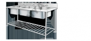 China Table & Sinks Three Sink Unit on sale
