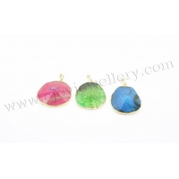 China Gemstone Beads Home Cracked Agate Nugget Pendants on sale