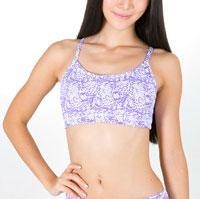 China Yoga Bras Custom sublimation printing fitness sports bra on sale