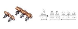 China Copper aluminium groove clamp for steel wire on sale