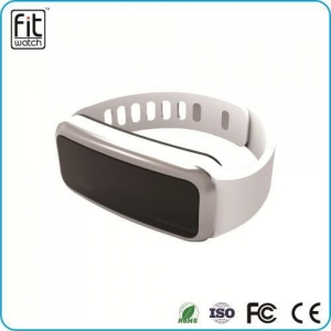 China 0.91 inch OLED screen bluetooth 4.0 wearable technology smart rubber bracelets on sale