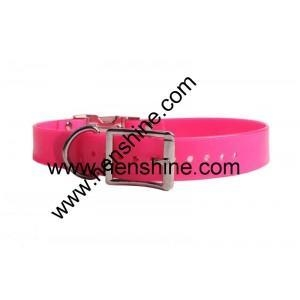 China Hunting dog collar Hot Pink TPU Dog Collar with Quick Release Buckle on sale