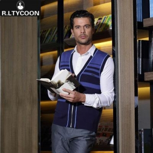 China Men's Sweaters R.ltycoon men's striped vest R-SV140001 on sale