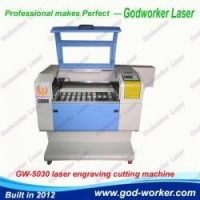 CO2 Laser Engraving Cutting Machine GW-5030 laser cutting machine for acrylic , fabric, paper cards