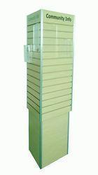 China Slat wall and Peg board 3 sided slatwall displays rack on sale