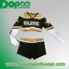 China metallic spandex cheer uniforms DPCUW020 for sale