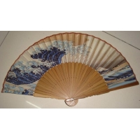 China Gift Hand Fan Promotional bamboo silk fan with customized design,ladies silk fan on sale