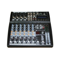Mixer 8 channel Audio Mixer with USB & SD card slot & LCD AMA-8M