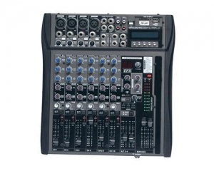 China Mixer 8 channel Audio Mixer with USB & SD card slot & LCD AMC-8M on sale