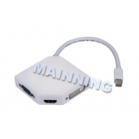 USB Adaptor Cable mini displayport to vga / dvi / hdmi adapter Mini DP To HDMI+VGA+DVI Adapter Cable