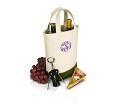China TOTE BAGS Double Wine Bottle Tote on sale