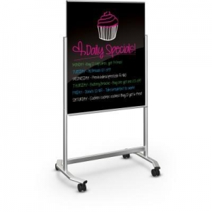 China Boards / Easels Visionary Move - Mobile Black Glass Whiteboard on sale