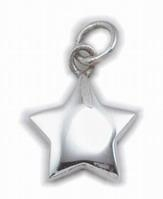 China Sterling Silver Puffy Star Charm on sale