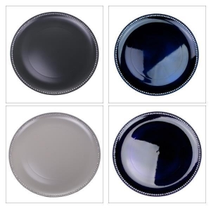 China Table Decorations Diamante Edged Rimless Round Charger Plate - 33cm Diameter on sale
