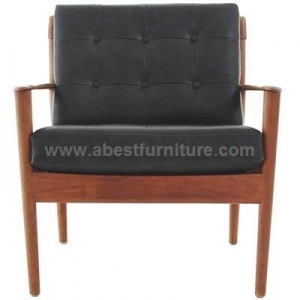 China Best Furniture Grete Jalk Danish leather armchair on sale