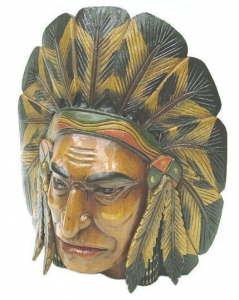 China SWORDS Native American Type Wooden Mask on sale
