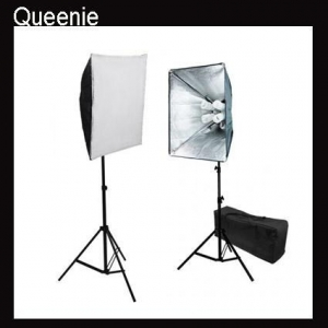 China Continuous lighting System Pro 4 socket 2 lights 1600W Softbox Continuous Light Set on sale