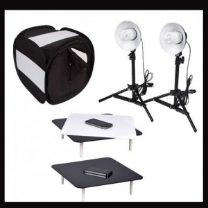 China Studio in a box Photo Black Jewellery Riser Studio kit on sale