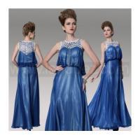 Dark Blue A-Line Plus Size Mother Of Bride Dress, Floor Length Evening dress