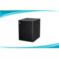 Black Mini Tower Computer Cases Audio Ports with heat dissipation