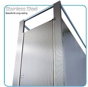China Stainless Steel Bathroom Stall Partitions on sale