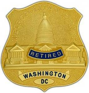 China Certificates & Awards Retired Washington DC Badge on sale