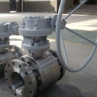 China worm gear operated flanged metal seated ball valve on sale